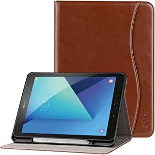 Ztotop Premium Leather Case for Samsung Galaxy Tab S3 9.7-Inch 2017 (SM-T820/T825), Leather Folio Stand Protective Case Smart Cover for Galaxy Tab S3 with Auto Sleep/Wake, S-Pen Holder, Brown