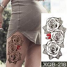 JXAA Etiqueta engomada del Tatuaje a Prueba de Agua Wolf Tree Rose Moon Tattoo Fox Clock Flower Body Art Manga del Brazo Mujeres Hombres 11-XQB218