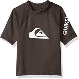 Quiksilver Children (youths) All Time Short Sleeve Boy Tarmac Surfing Rashguard Size 5