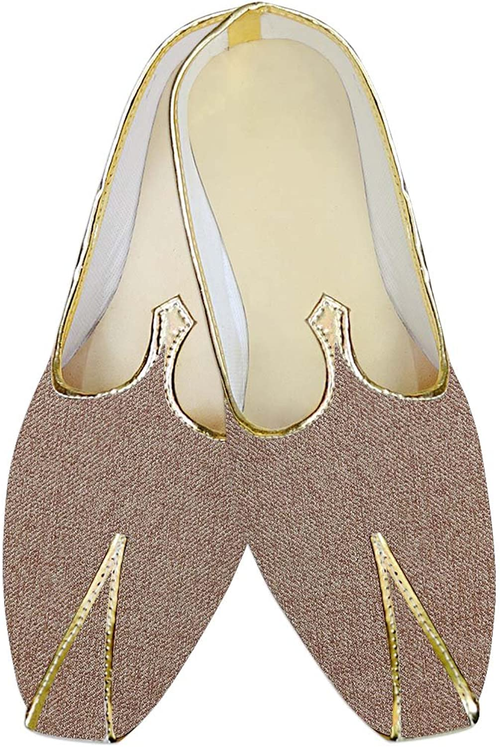 INMONARCH Mens Copper Jute Polyester Wedding shoes MJ015145