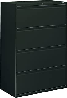 HON 884LS 800 Series Four-Drawer Lateral File, 36w x 19-1/4d x 53-1/4h, Charcoal