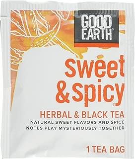 Good Earth Sweet & Spicy Herbal & Black Tea, 18 Tea bags