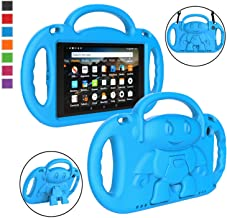 LTROP Fire HD 8 Tablet Case, Fire 8 2018 Case for Kids - Light Weight Shock Proof Handle Friendly Stand Child-Proof Case f...