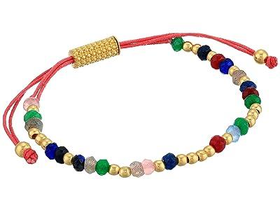 SOLE / SOCIETY Beaded Slider Bracelet (12K Soft Polish Gold/Multicolor) Bracelet
