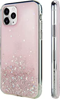 """iPhone 11 Pro Clear Case - STARFIELD Luxury Fashion Glitter Hard Case Transparent Clear Shiny Bling Sparkling Protective Cover for Latest iPhone 2019 Released (Transparent Rose, 2019 iPhone 5.8"""")"""