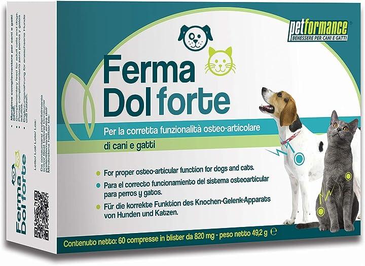 Petformance benessere per cani e gatti ferma dol forte - 1 scatola PF20023
