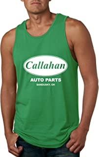 Wild Bobby Callahan Auto Parts Sandusky Ohio Retro 90s Funny Tommy Boy | Mens Pop Culture Graphic Tank Top