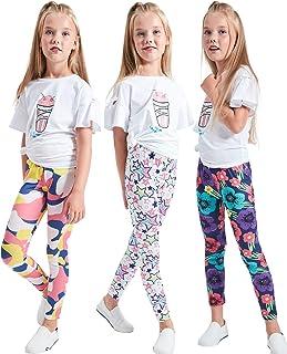 LUOUSE دختران کشش ساق شلواری جوراب شلواری بچه ها شلوار دایره طول کامل شلوار، سن 4-13 سال