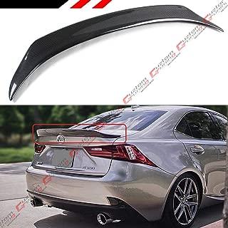 Cuztom Tuning Fits for 2014-2019 Lexus IS200T IS250 IS350 IS300 Duckbill Highkick Type Carbon Fiber Rear Trunk Spoiler Wing