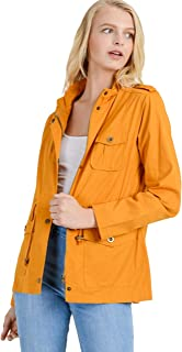Khanomak Zip Up Lightweight Military Versatile Utility Anorak Street Fashion Drawstring Adjustable Waist Jacket