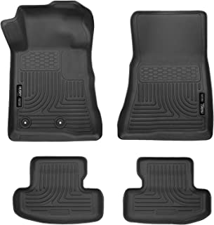 Husky Liners 99371 Black Weatherbeater Front & 2nd Seat Floor Liners Fits 2015-2019 Ford Mustang