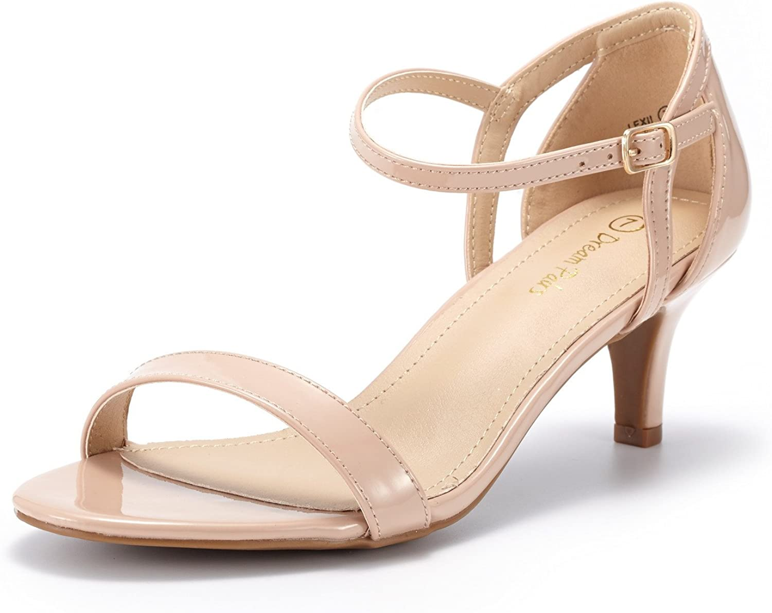 DREAM PAIRS Women's Lexii Fashion Stilettos Pump low-pricing S Toe Year-end gift Open Heel