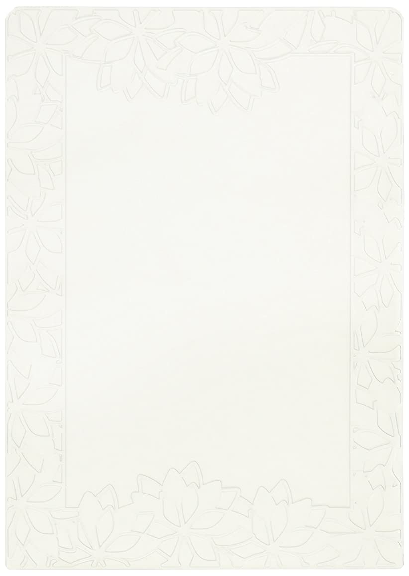 Crafts-Too Embossing Folder, Poinsettia Frame