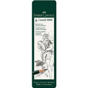 12er Art Set Faber-Castell 119065 Bleistift Castell 9000