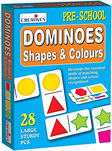 Creative Educational Aids P. Ltd. Dominoes - Shapes And Colours Card Game (Multi-Color, 28 Pieces) product image