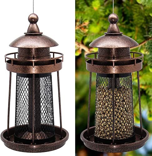 popular Twinkle online Star Wild Bird Feeder Hanging for Garden Yard discount Outside Decoration, Lighthouse Shaped outlet sale