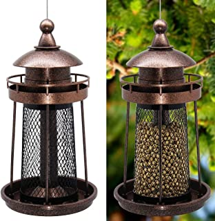 Best Twinkle Star Wild Bird Feeder Hanging for Garden Yard Outside Decoration, Lighthouse Shaped Review