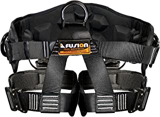 Fusion Climb Spartacus Heavy Duty Half Body Rigging Harness Black Size S-M