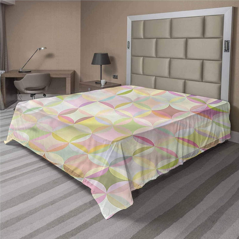 LCGGDB Pastel Cheap Flat Top Sheet Retro Soft Comfort Polka Sacramento Mall Dots Funky