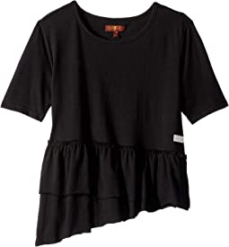 Ruffle Hem Tee Shirt (Big Kids)