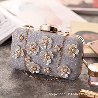 Fly Bag New Dinner Clutch Bag Fashion Flower Pearl Women s Diagonal Bag  Korean Version The Small 388304347288