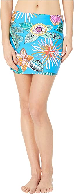 Tahiti Tropical Shirred High-Waist Bottoms