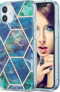 IPHONE 12 Pro case cover 6.1 Protective Luxury Silicone Anti-Scratch Anti dustproof Shock Absorption (Green/Blue)