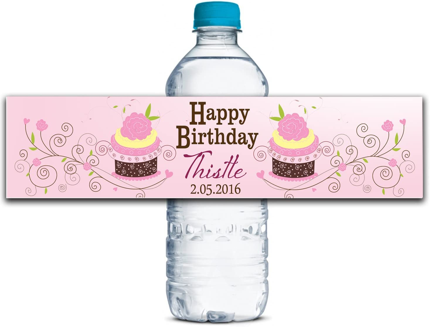 Custom Water 5☆大好評 Bottle Labels Waterproof 正規品送料無料 Birt Adhesive Personalized