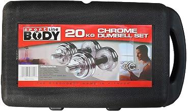 Body Line Dumbbell, 20 KG, Silver