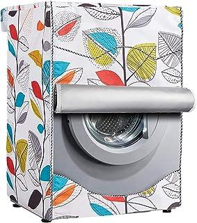 [Mr.You]洗濯機カバー ドラム洗濯機専用 防水日焼け止め 防水生地 (XL,木の葉)