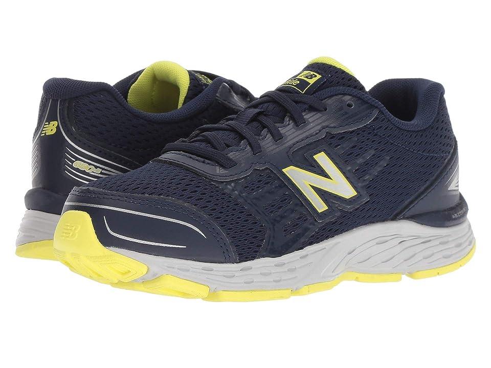 New Balance Kids KR680v5Y (Little Kid/Big Kid) (Pigment/Limeade) Boys Shoes