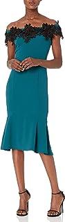 Marina Women's Off The Shoulder Applique Dress