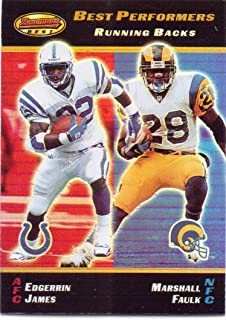 Marshall Faulk, Edgerrin James 2000 Bowman's Best Best Performers #91 - St. Louis Rams, Indianapolis Colts