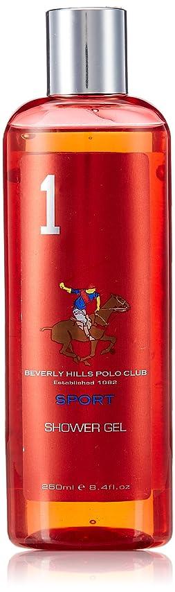 気体のハムくしゃくしゃBeverly Hills Polo Club Sports Shower Gel for Men, No 1, 250ml