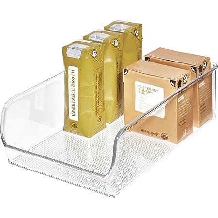 InterDesign Linus boite de conservation, grand organiseur cuisine en plastique solide, transparent