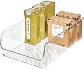 iDesign Linus Plastic Fridge and Freezer Storage Organizer Bin, Clear Container for Food, Drinks, Produce Organization, BPA-Free , 11