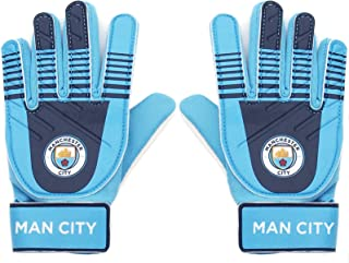 Manchester City FC Official Soccer Gift Kids Youths Goalkeeper Goalie Gloves