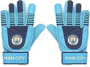 Manchester City FC Official Football Gift Kids Youths Goalkeeper Goalie Gloves