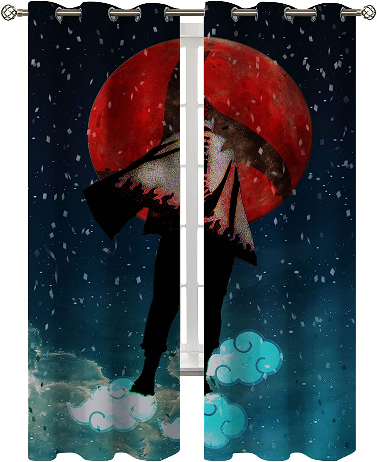 Anime Art Cloud Starry NEW before selling ☆ Cool Boys 2021 Deco Curtain Children's Bedroom