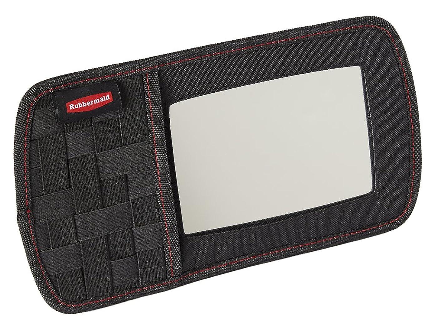 Rubbermaid Automotive Sun Visor Car Accessory: All Purpose Storage Organizer with Vanity Mirror and Elastic Grid