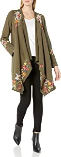 JWLA By Johnny Was Women's Cotton Draped Cardigan with Embroidery