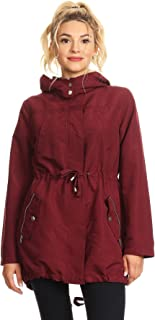 Women's Junior Hooded Utility Rain Jacket