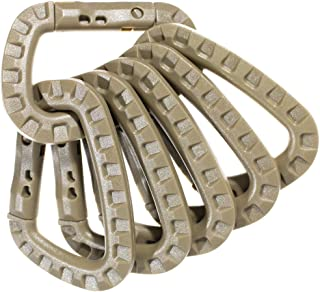 West Coast Paracord Tactical Carabiner Keychain – Hard Polymer, Lightweight Utility Hook Rings and Tactical Gear Clips – Hanging Carabiner Buckle for Backpacking, Camping, and Hiking - 6 Pack