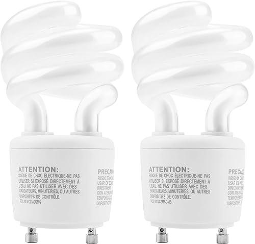 UL-Listed Gu24 CFL Light Bulbs JACKYLED Energy Efficient T3 13W 2700K 900lm Spiral GU24 Base Compact Flourescent Bulb...