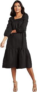 Tiered Square Neck Midi Women Dress 80470501