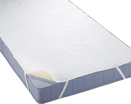 """biberna Sleep & Protect"""" Molton-Matratzenauflage, Matratzenschoner aus 100% Baumwolle, Schonbezug, Inkontinenzunterlage, Topper- Bettauflage, Schlafunterlage, wasserdichter Matratzen- Schutz-Bezug"""