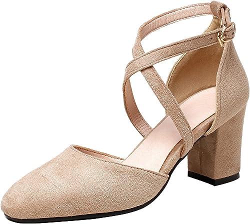 Calaier Femme Femme Salsi 7CM Bloc Boucle Sandales Chaussures  acheter des rabais