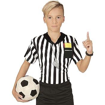 Men's Ref Costume Referee Linesman Sport Football Soccer Fancy Dress Adult