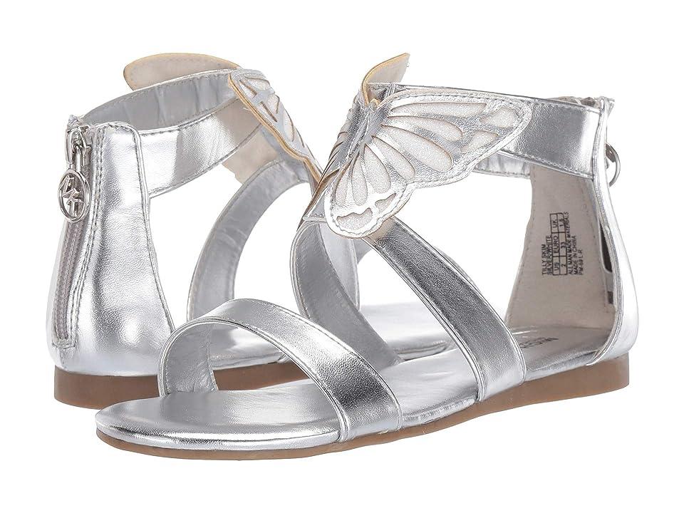 MICHAEL Michael Kors Kids Tilly Skim (Little Kid/Big Kid) (Silver Metallic/White Glitter) Girls Shoes
