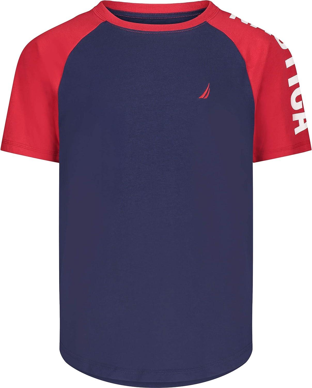 Nautica Boys' Short Sleeve Colorblock T-Shirt